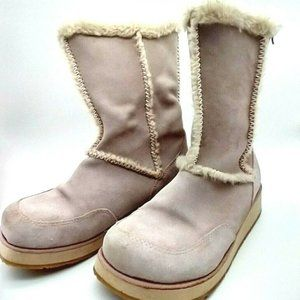 Roxy Womens Pink Fur Lined Chunky Snow Boots